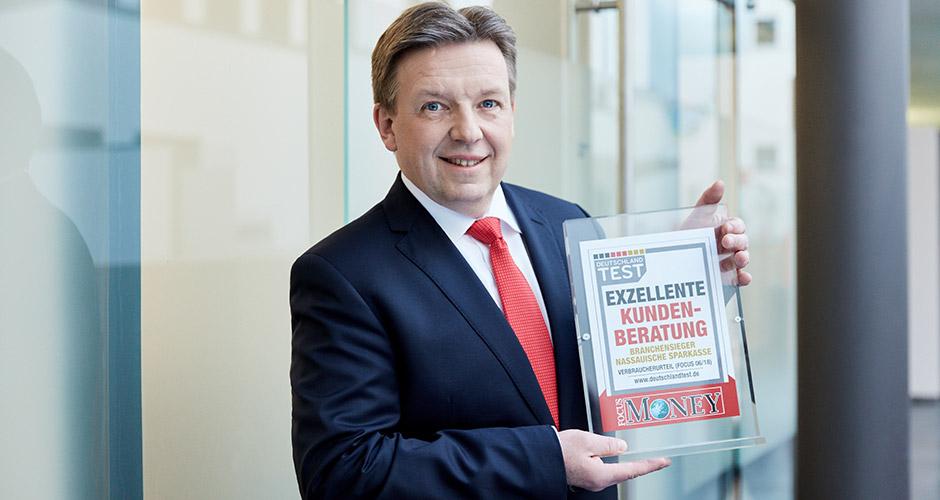 Ausgezeichnete Beratung: Naspa ist Branchensieger im Deutschland-Test